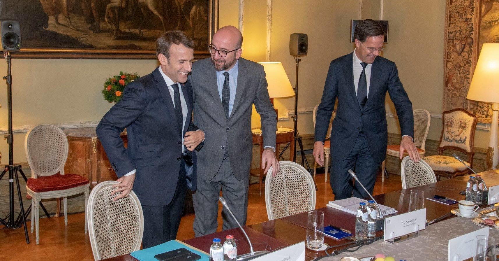 Macron Michel Rutte