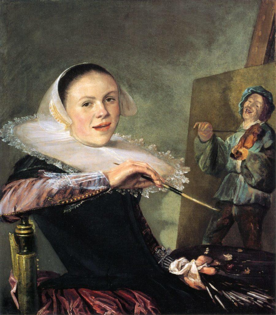 Self portrait by Judith Leyster