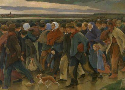 Eugène Laermans Landverhuizers KMSKA center panel Laatste blik