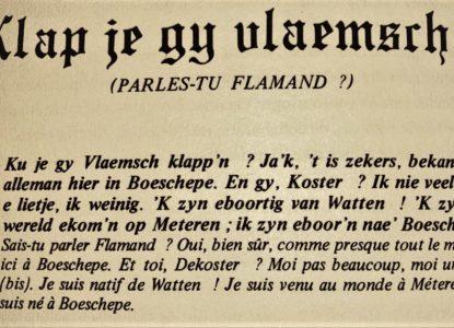 Klap je Gij Vlaemsch