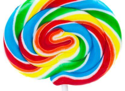Lollipop Rainbox Swirl aangepast