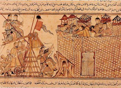Mongols assiégeant une ville XII Ie siècle