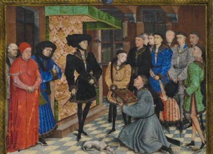 Rogier van der Weyden Presentation Miniature Chroniques de Hainaut KBR 9242