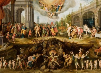 Petite Boston Collection privée Frans II Francken L Allégorie des vices et de la vertu 300 dpi